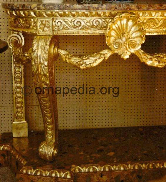 18th Century gilt console table.