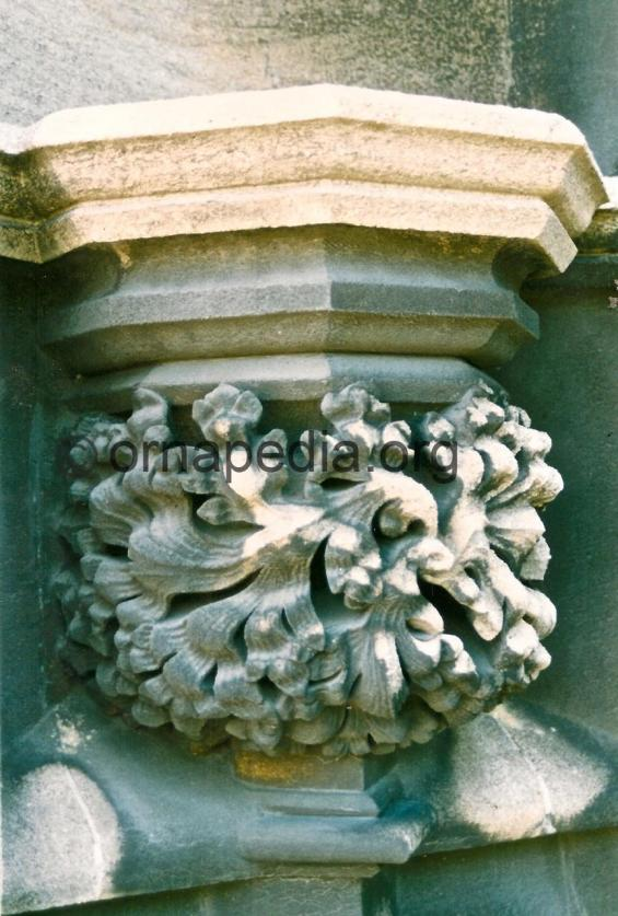 Stone carved acanthus