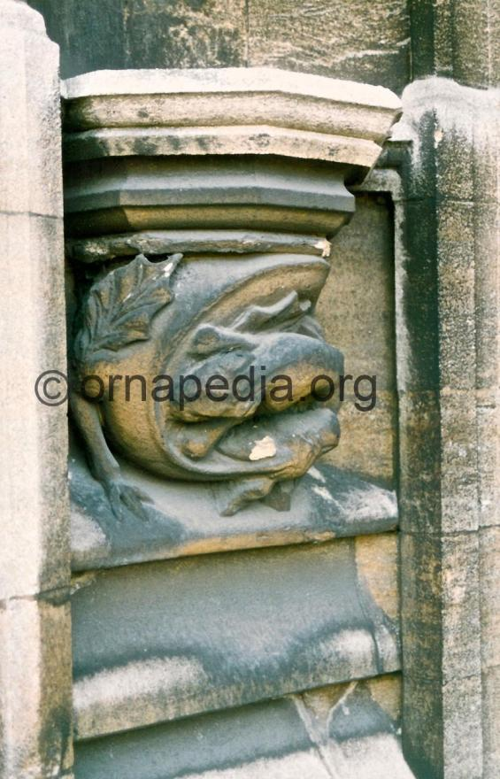 Stone carved dragons