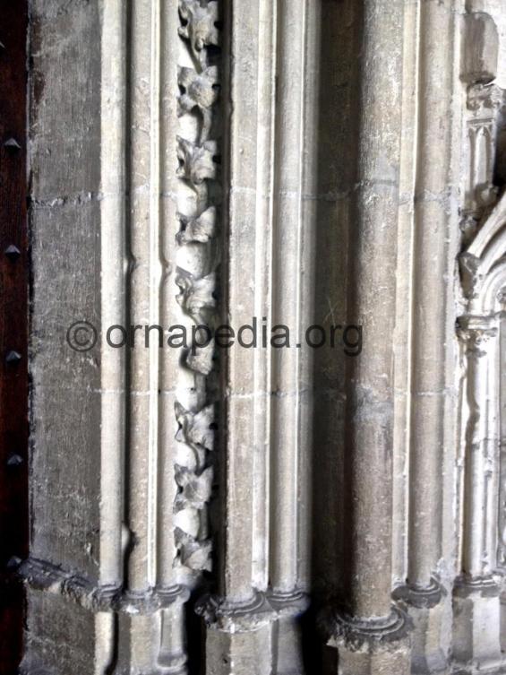 Carved doorway moulding