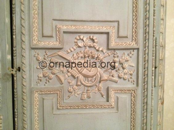 French painted armoire