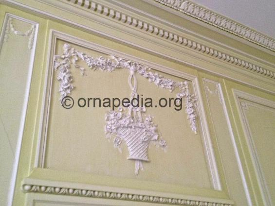Cornice and panels