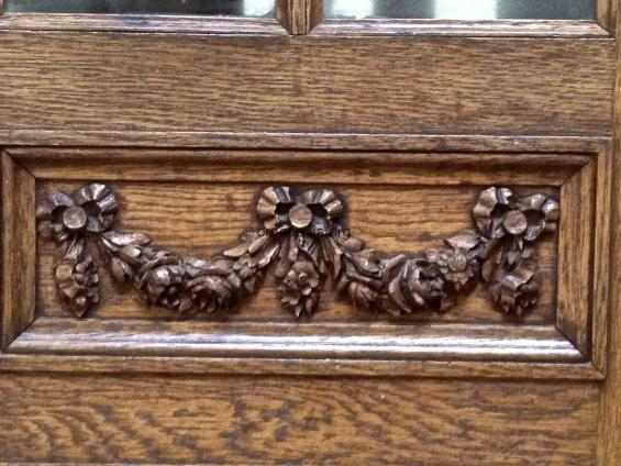 Oak floral swags