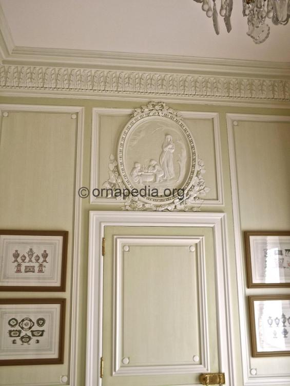 Panels and cornice