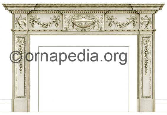 Fire surround drawing