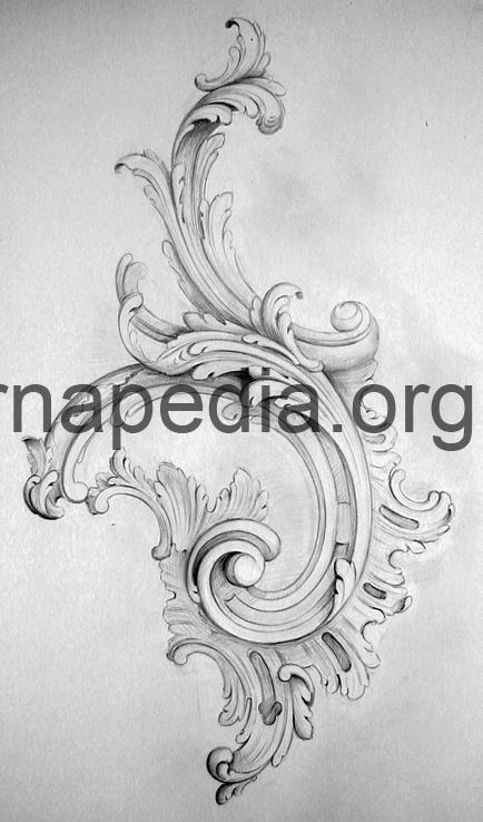 Rococo C scroll