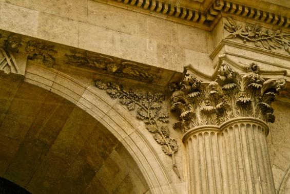 Corinthian stone carved pilaster