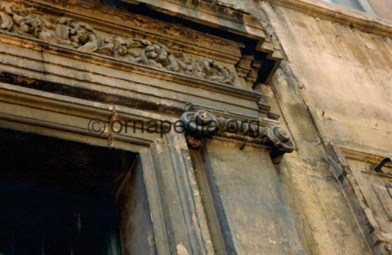 Ionic stone pilaster