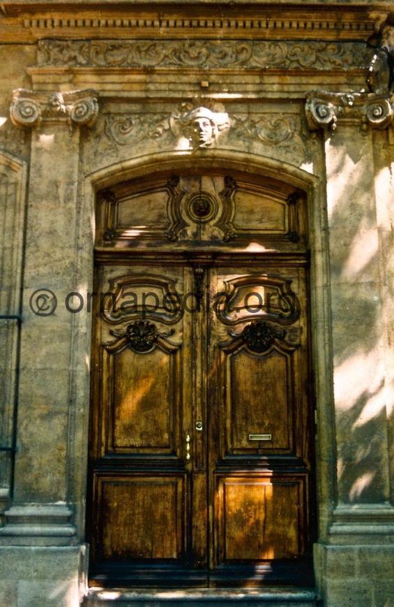 Ionic stone pilasters