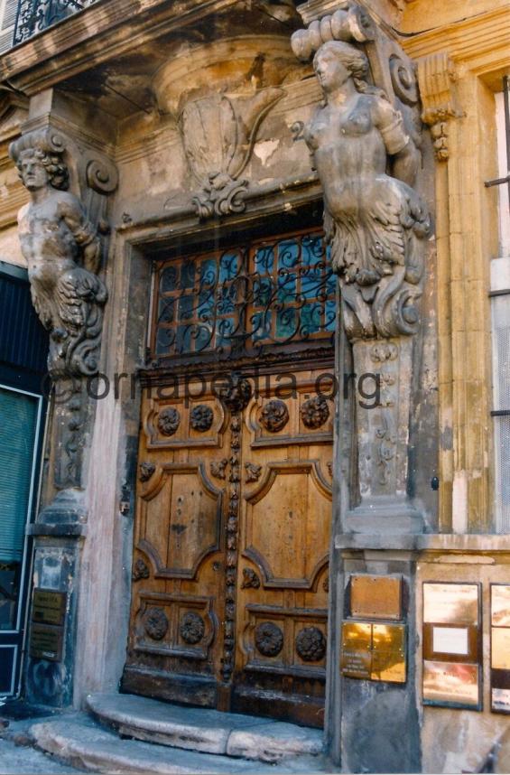 Stone carved Caryatids