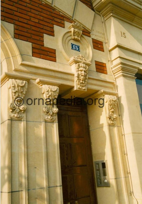 Stone carved corbels