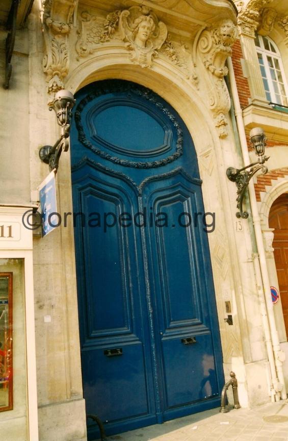 Stone carved door surround