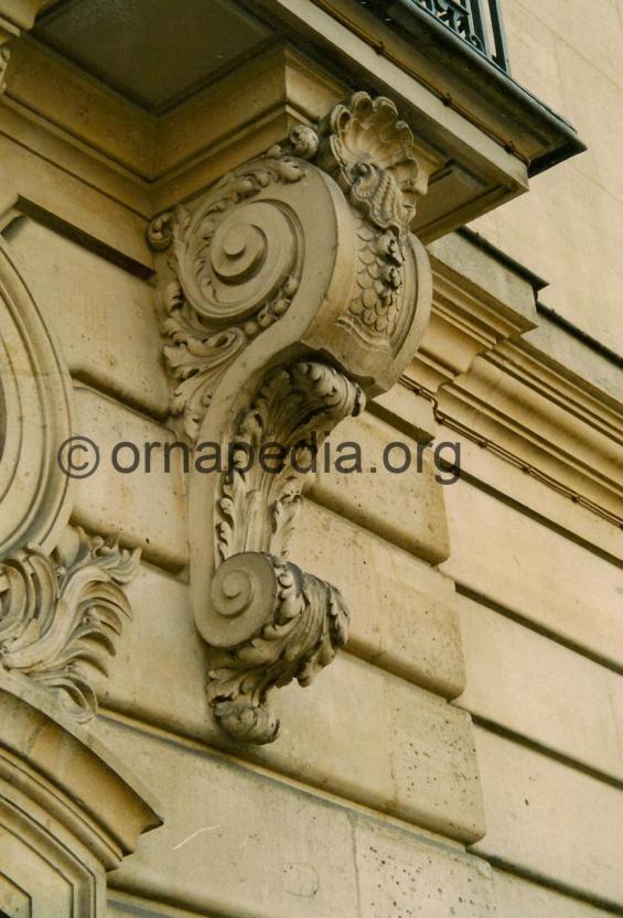 Stone carved corbel