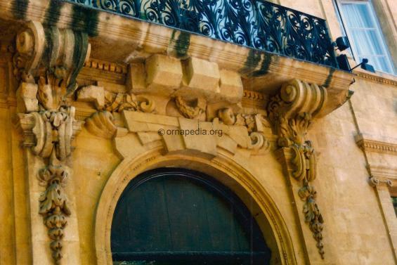 Stone carved bracket